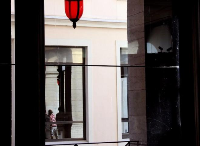 Vélo'V rue Pizay, vue de l'opéra