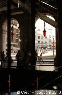 Place Louis Pradel, vue depuis l'intérieur de l'opéra - photos de Lyon 1