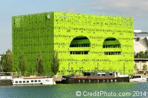 photo euronews cube vert confluence