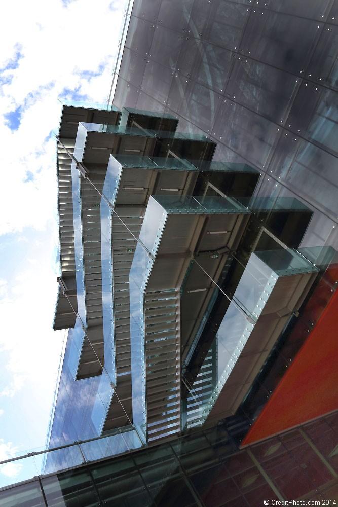 Les escaliers de La Confluence