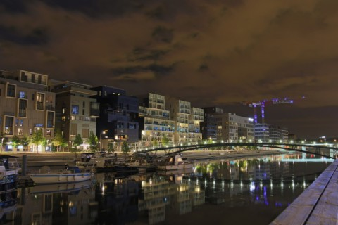Photos du bassin nautique Confluence de Lyon Photos de jour, photos de nuit … et premiers essais de HDR