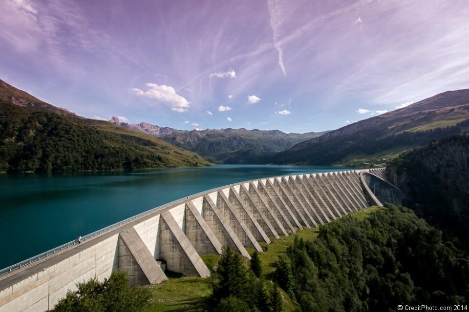 Barrage de Roselend, Beaufortain, Savoie