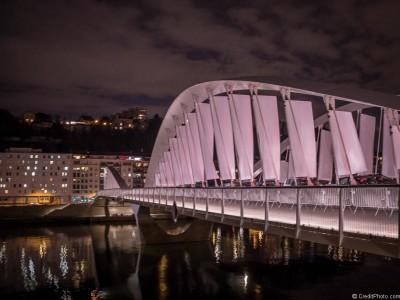 Pont Schuman, sous le vent – Illuminations 2014