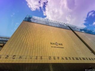 Le cube jaune de Lyon, les archives départementales du Rhône