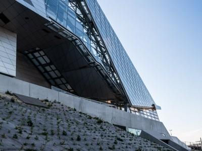 Musée des Confluences, détail du flanc Est