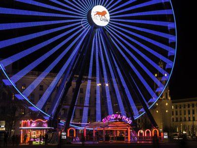 Grande roue bleue de la Place Bellecour