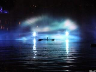 Mysticète au bassin nautique de la Confluence – Illuminations 2012