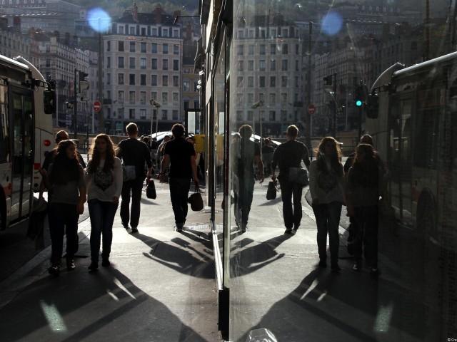 Symétrie rue d'Algérie, Lyon 1er
