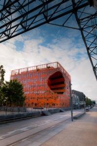 Photo cube orange Lyon