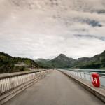 Barrage de Roselend, sur le barrage