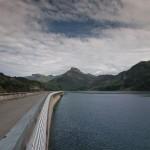 Barrage de Roselend, accès sud