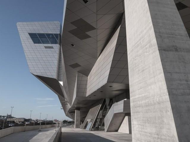 Flanc ouest du Musée des Confluences