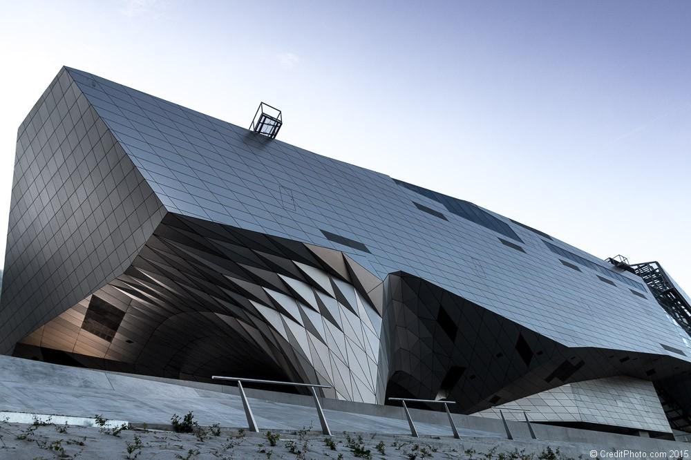 détail du musée des confluences Lyon